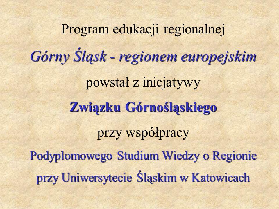 Górny Śląsk - regionem europejskim