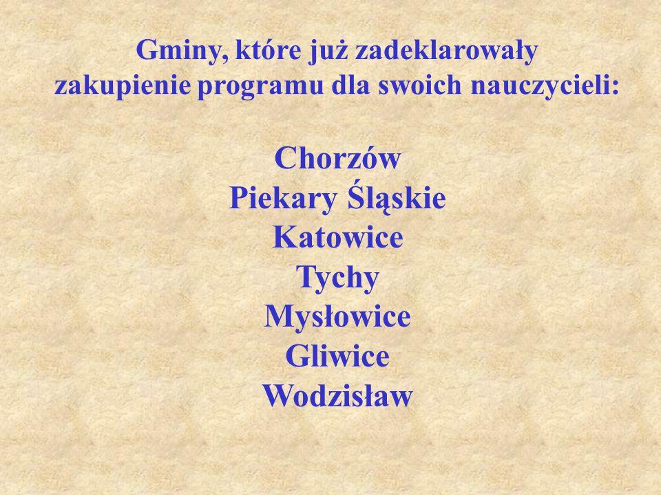 Chorzów Piekary Śląskie Katowice Tychy Mysłowice Gliwice