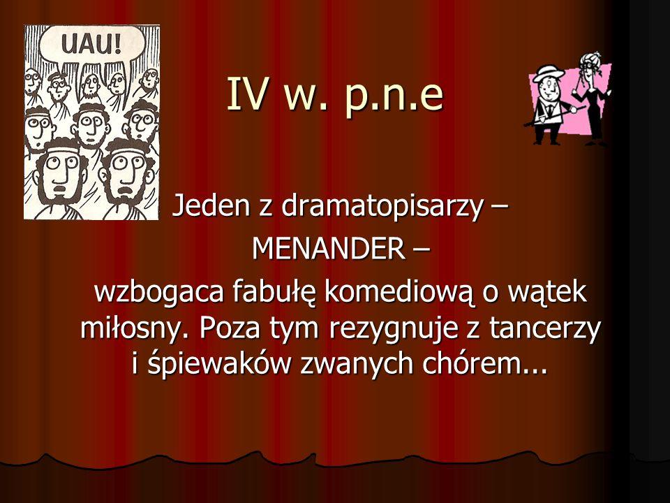 Jeden z dramatopisarzy –