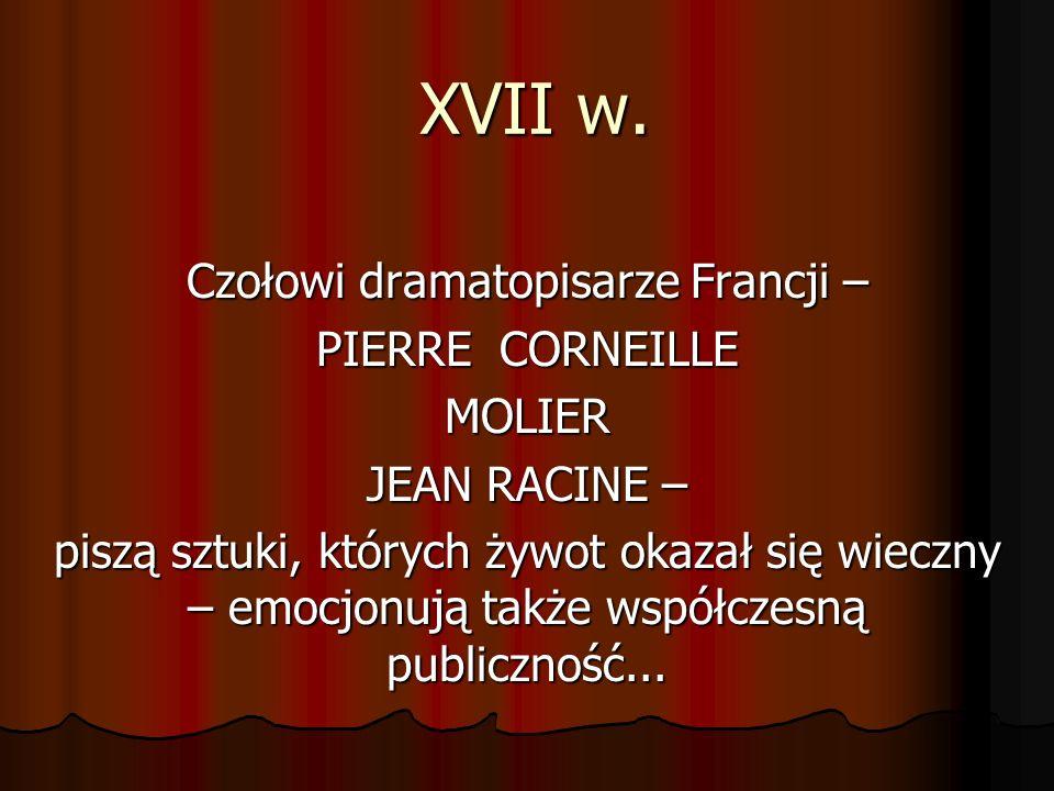 Czołowi dramatopisarze Francji –
