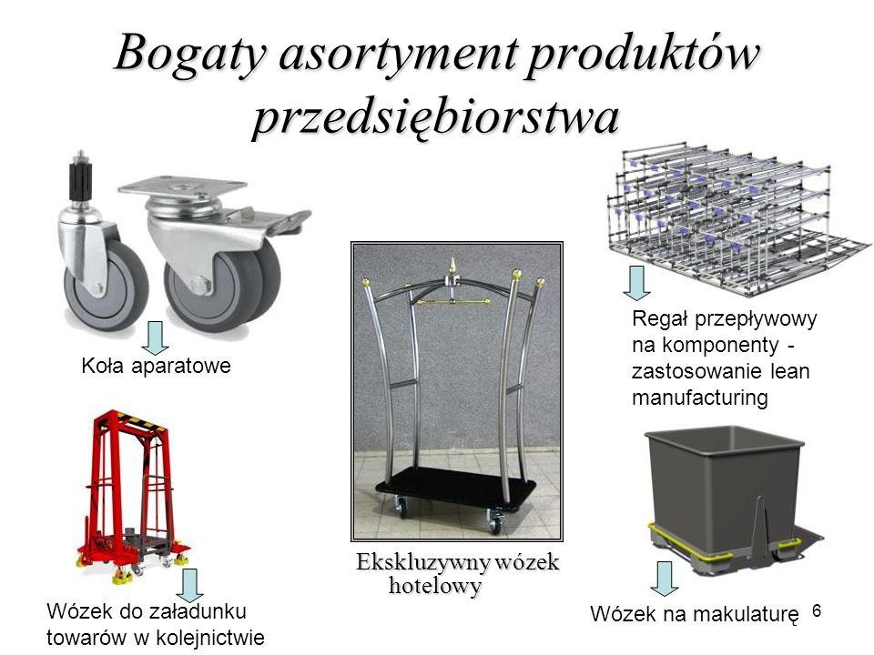 Bogaty asortyment produktów przedsiębiorstwa