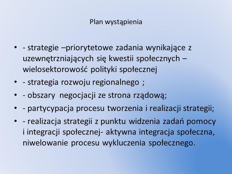 - strategia rozwoju regionalnego ;