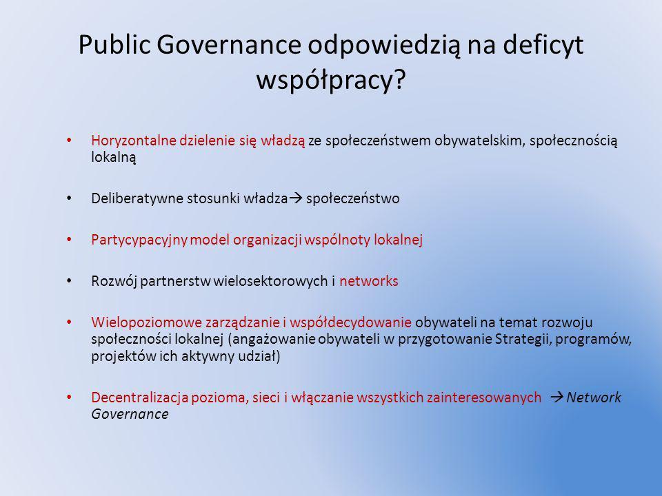 Public Governance odpowiedzią na deficyt współpracy