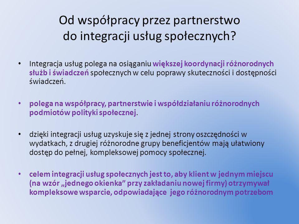 Od współpracy przez partnerstwo do integracji usług społecznych