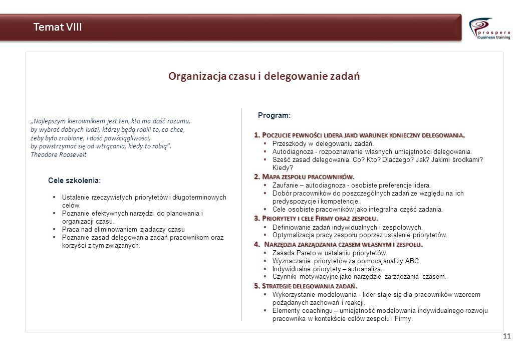Organizacja czasu i delegowanie zadań