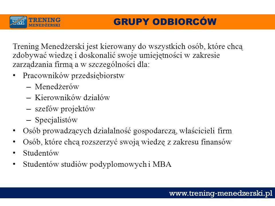 GRUPY ODBIORCÓW