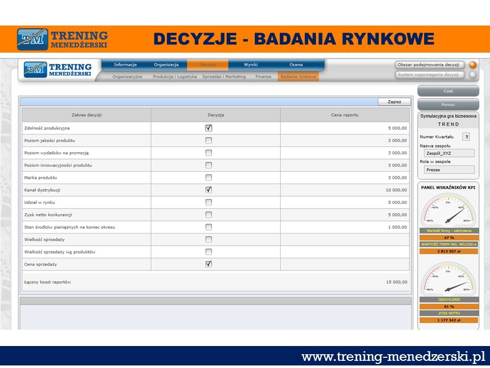 DECYZJE - BADANIA RYNKOWE