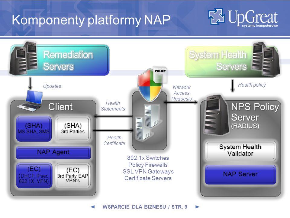 Komponenty platformy NAP