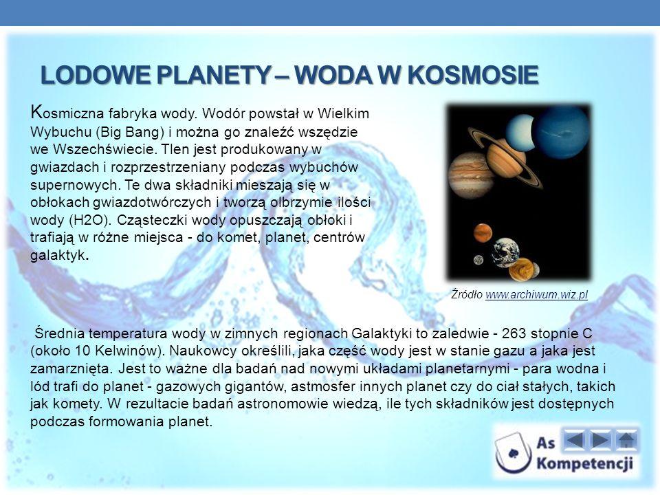 Lodowe planety – woda w kosmosie