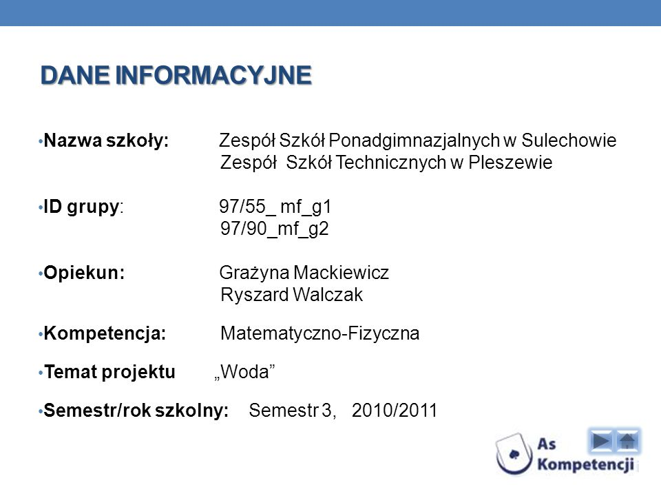 Dane INFORMACYJNE Nazwa szkoły: Zespół Szkół Ponadgimnazjalnych w Sulechowie. Zespół Szkół Technicznych w Pleszewie.
