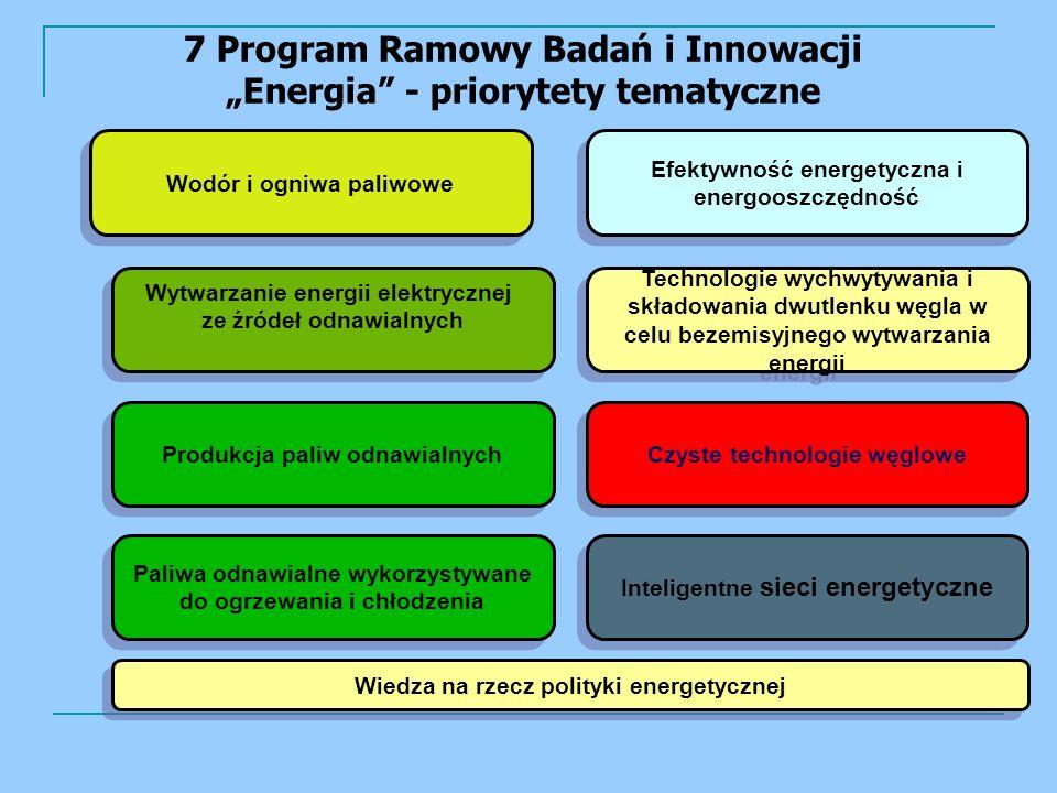"""7 Program Ramowy Badań i Innowacji """"Energia - priorytety tematyczne"""