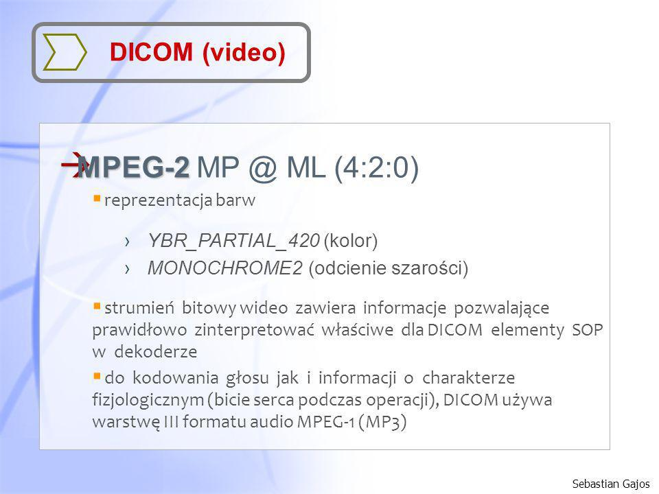 MPEG-2 MP @ ML (4:2:0) DICOM (video) YBR_PARTIAL_420 (kolor)