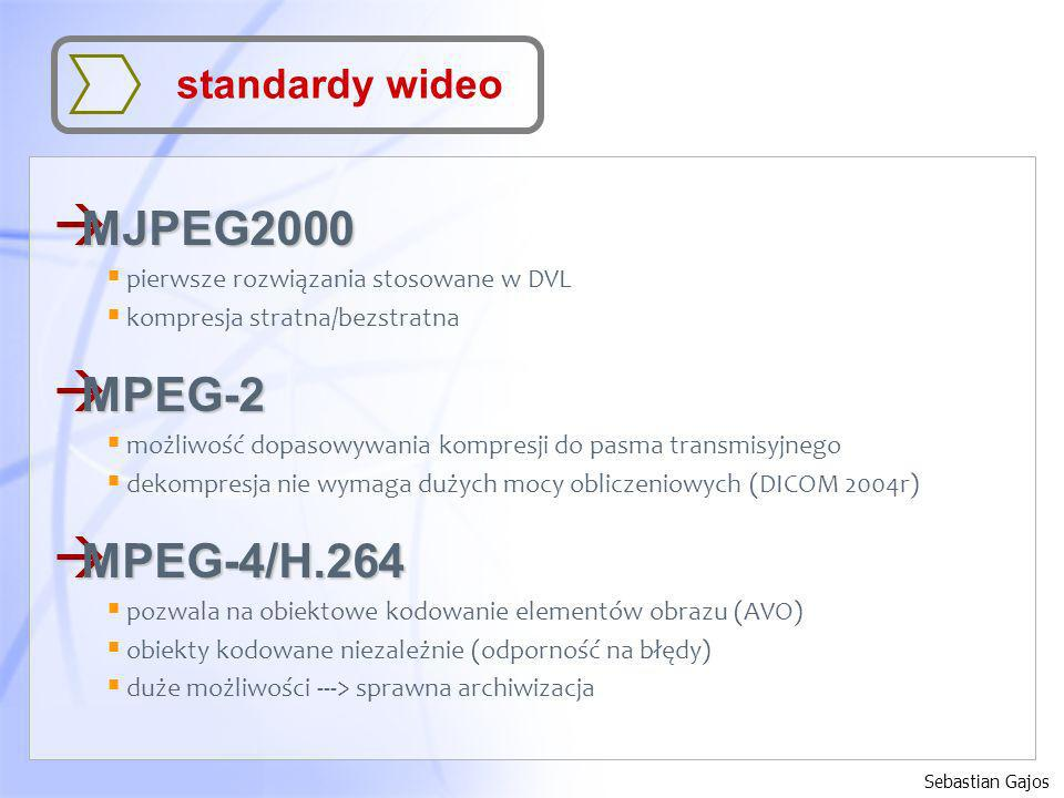 MJPEG2000 MPEG-2 MPEG-4/H.264 standardy wideo
