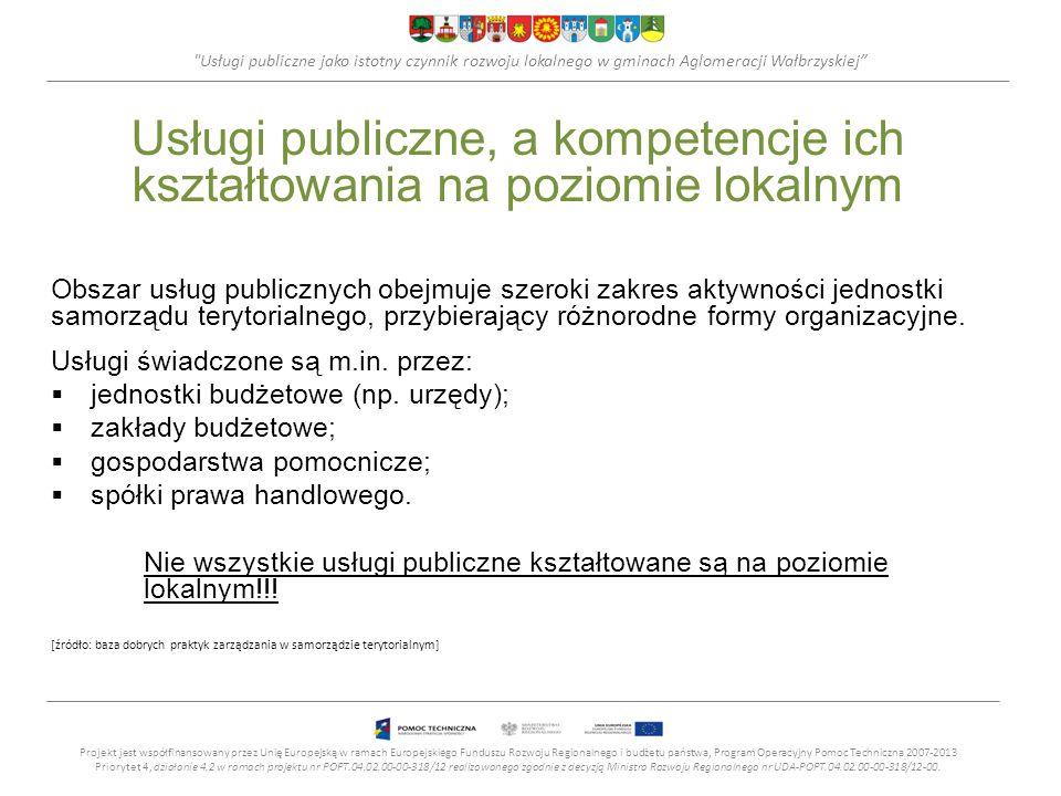 Usługi publiczne, a kompetencje ich kształtowania na poziomie lokalnym