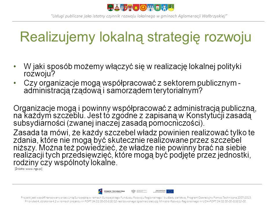 Realizujemy lokalną strategię rozwoju