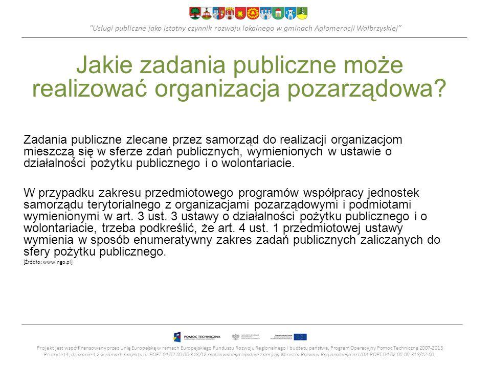 Jakie zadania publiczne może realizować organizacja pozarządowa