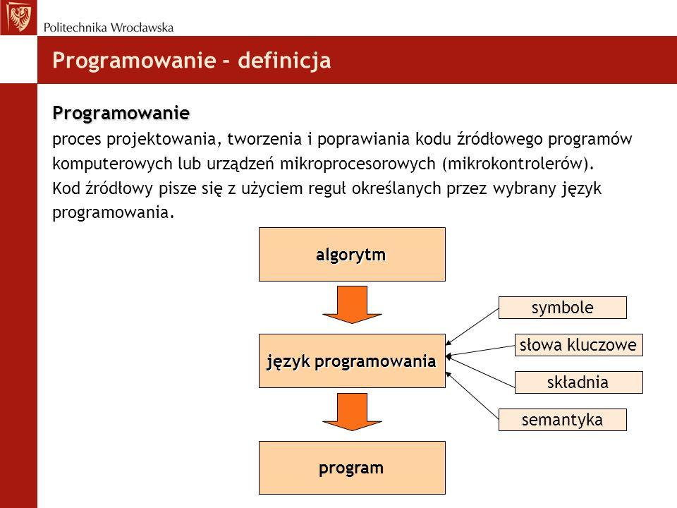 Programowanie - definicja