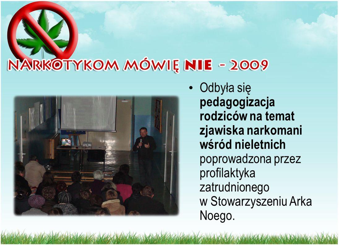 Odbyła się pedagogizacja rodziców na temat zjawiska narkomani wśród nieletnich poprowadzona przez profilaktyka zatrudnionego w Stowarzyszeniu Arka Noego.