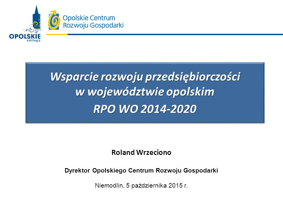 Wsparcie rozwoju przedsiębiorczości w województwie opolskim