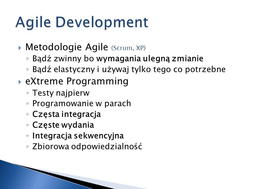 Agile Development Metodologie Agile eXtreme Programming