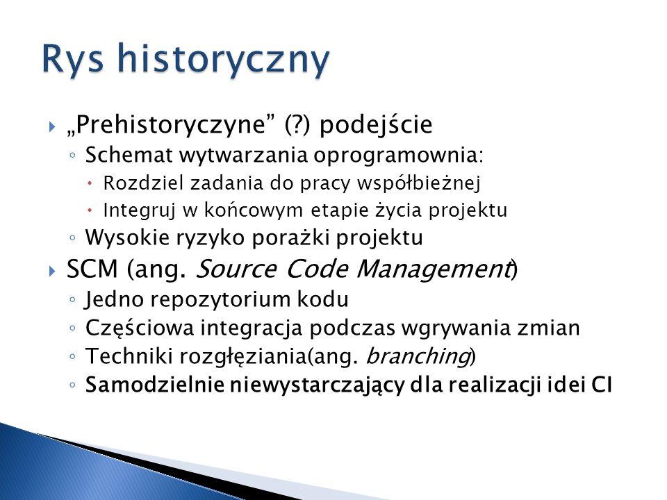 """Rys historyczny """"Prehistoryczyne ( ) podejście"""