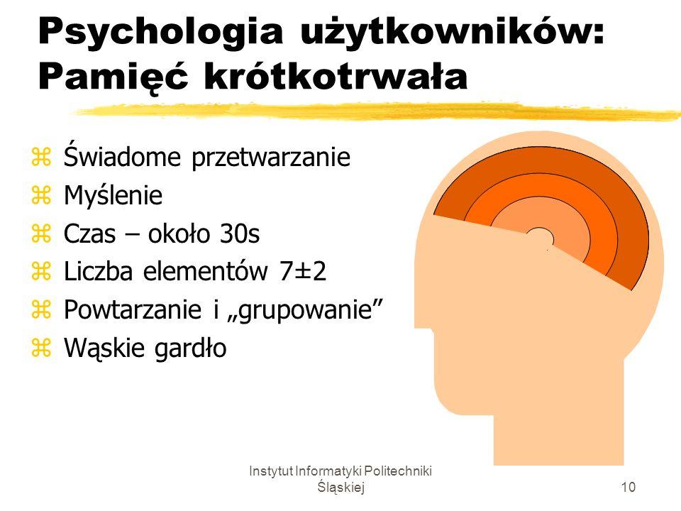 Psychologia użytkowników: Pamięć krótkotrwała