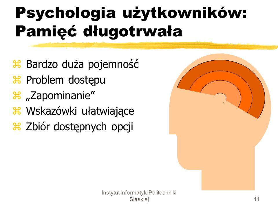 Psychologia użytkowników: Pamięć długotrwała