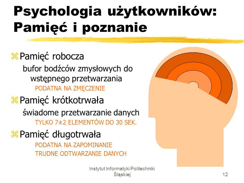 Psychologia użytkowników: Pamięć i poznanie