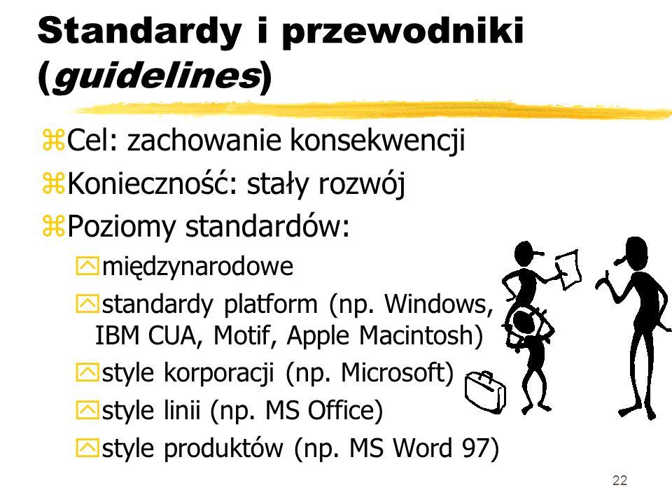 Standardy i przewodniki (guidelines)