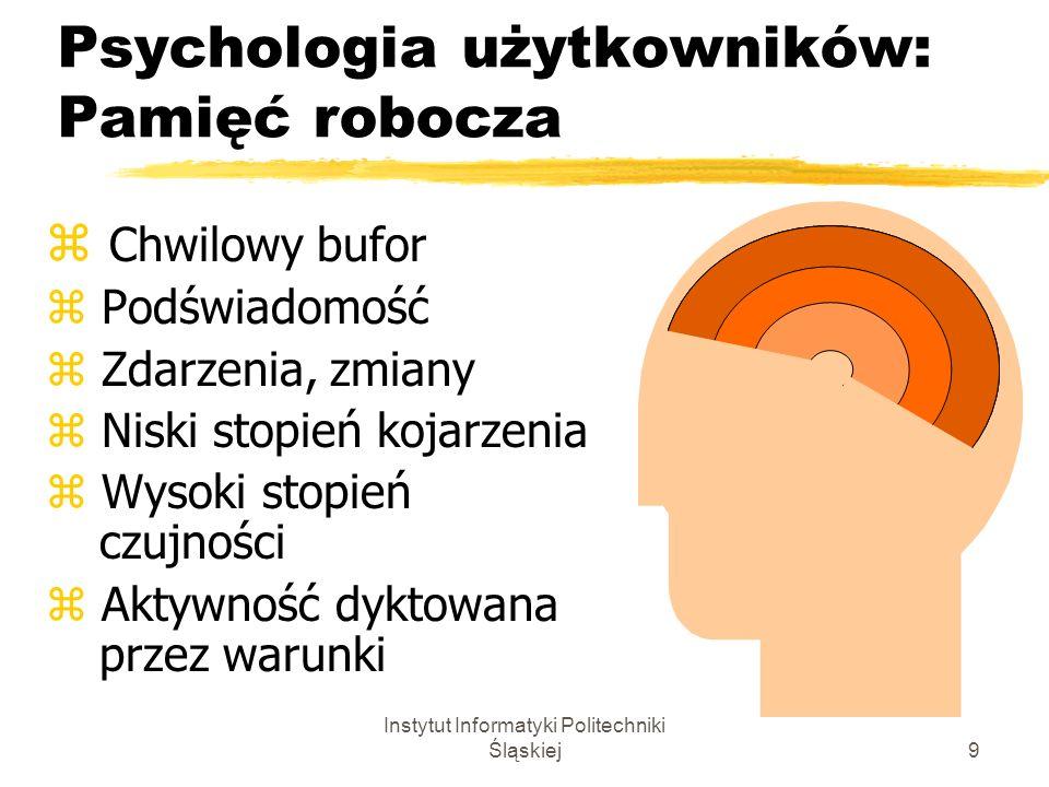 Psychologia użytkowników: Pamięć robocza