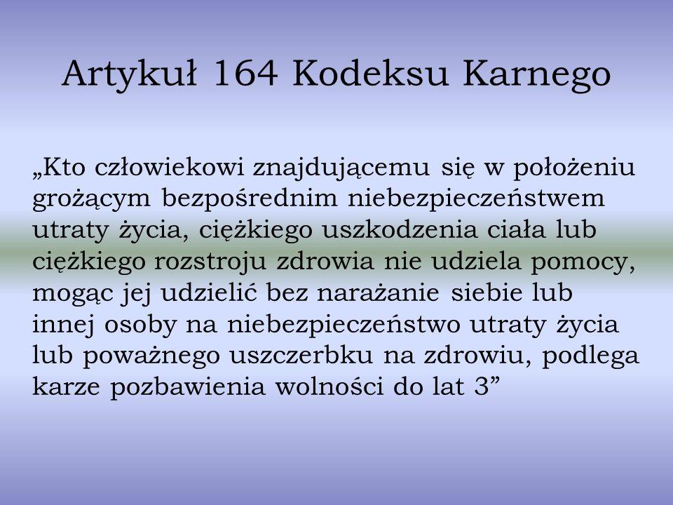 Artykuł 164 Kodeksu Karnego