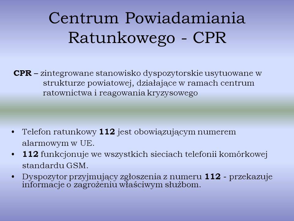 Centrum Powiadamiania Ratunkowego - CPR
