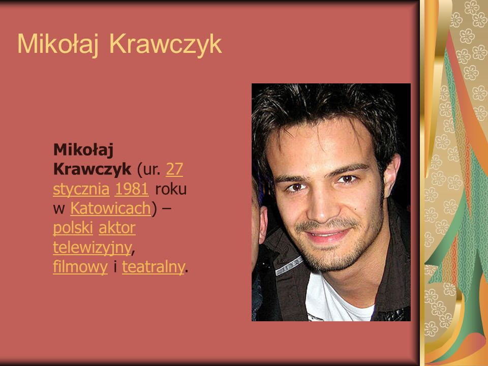 Mikołaj Krawczyk Mikołaj Krawczyk (ur.