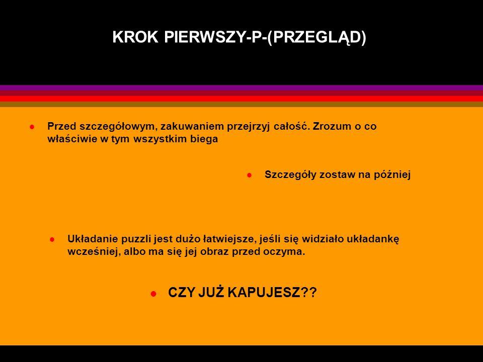 KROK PIERWSZY-P-(PRZEGLĄD)