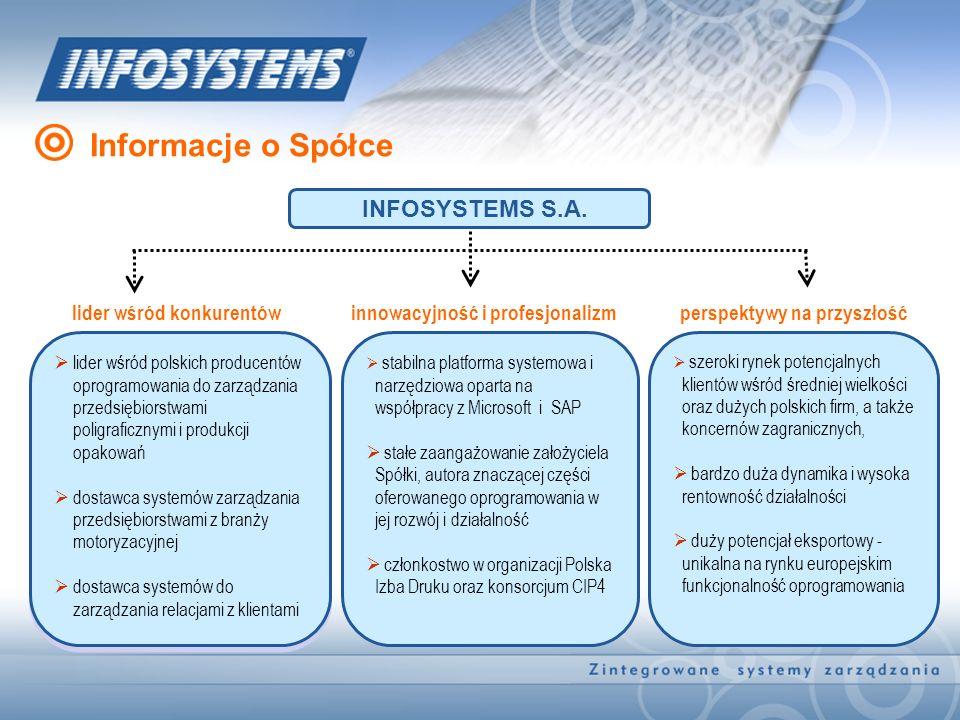 Informacje o Spółce INFOSYSTEMS S.A. lider wśród konkurentów