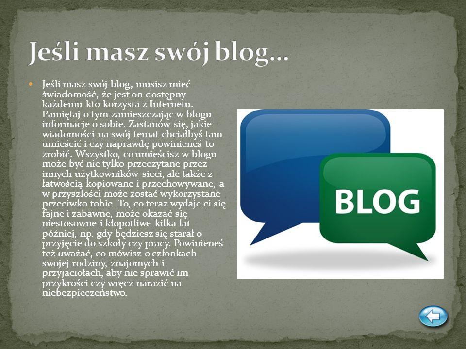 Jeśli masz swój blog…