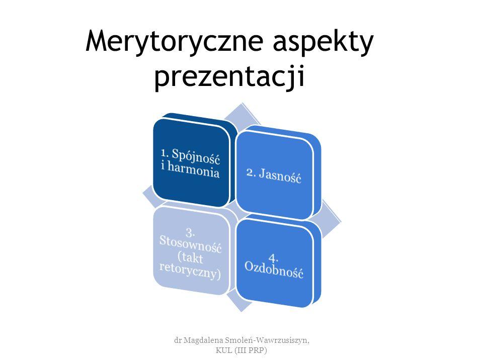Merytoryczne aspekty prezentacji