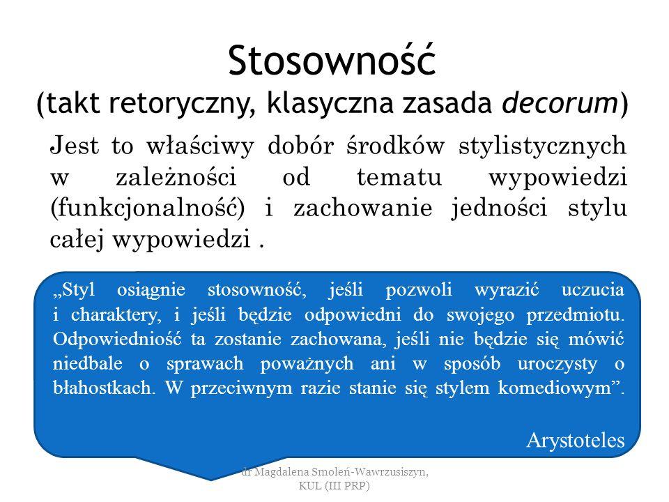 Stosowność (takt retoryczny, klasyczna zasada decorum)