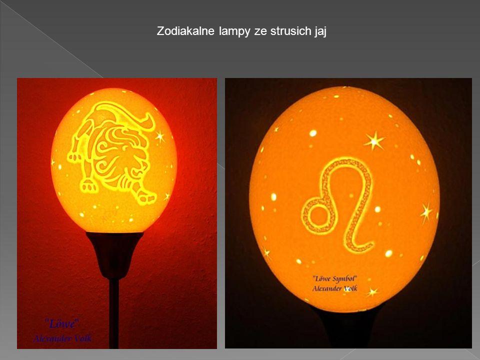 Zodiakalne lampy ze strusich jaj