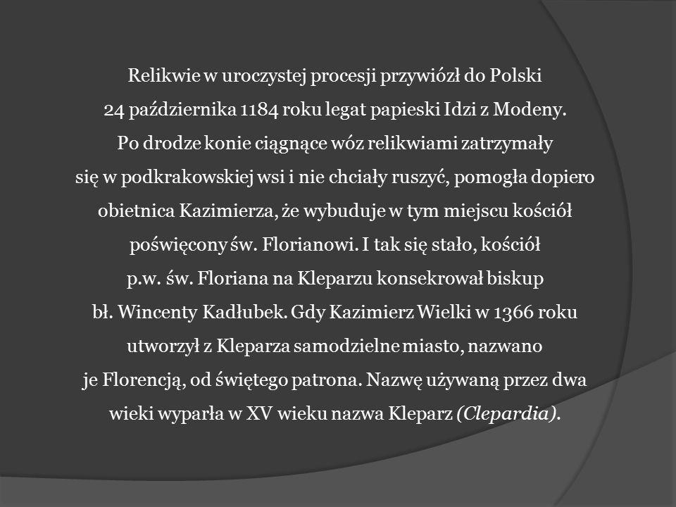 Relikwie w uroczystej procesji przywiózł do Polski