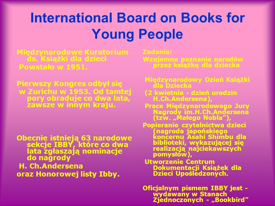 International Board on Books for Young People