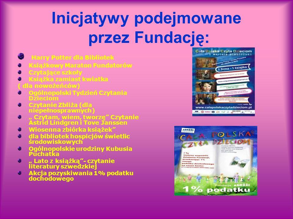 Inicjatywy podejmowane przez Fundację: