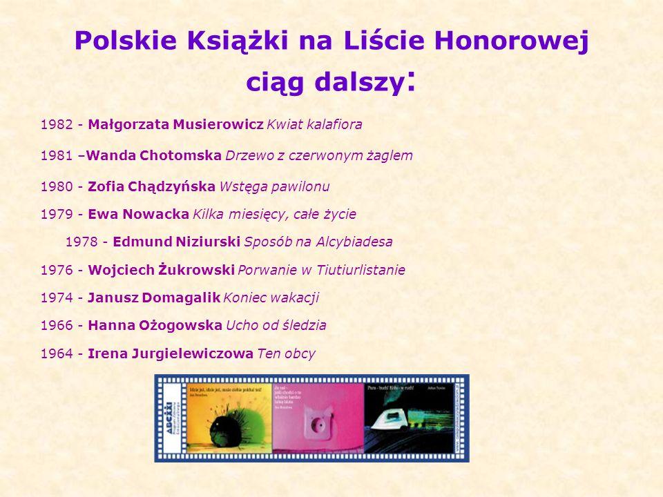 Polskie Książki na Liście Honorowej ciąg dalszy: