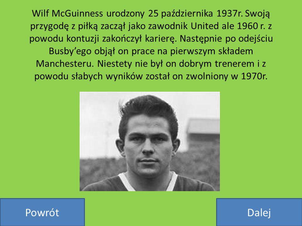 Wilf McGuinness urodzony 25 października 1937r