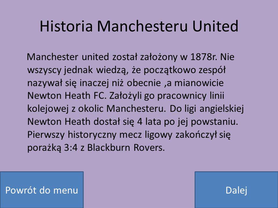 Historia Manchesteru United