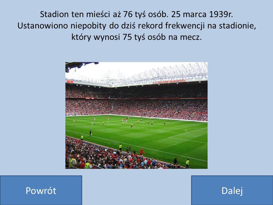 Stadion ten mieści aż 76 tyś osób. 25 marca 1939r