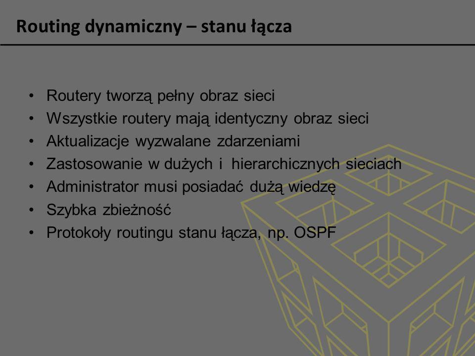 Routing dynamiczny – stanu łącza