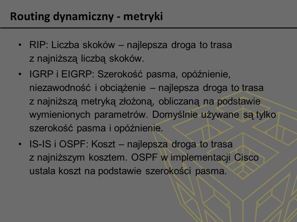 Routing dynamiczny - metryki