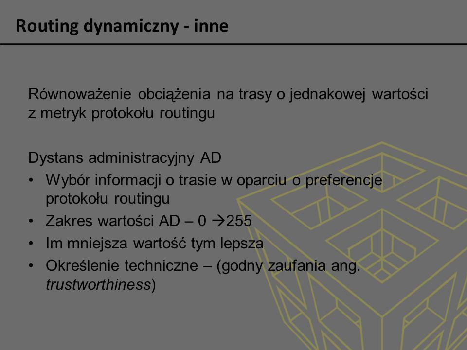 Routing dynamiczny - inne