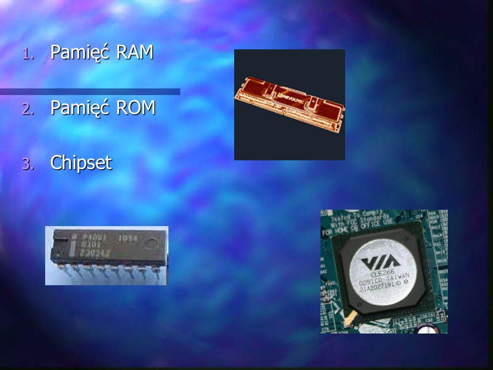 Pamięć RAM Pamięć ROM Chipset